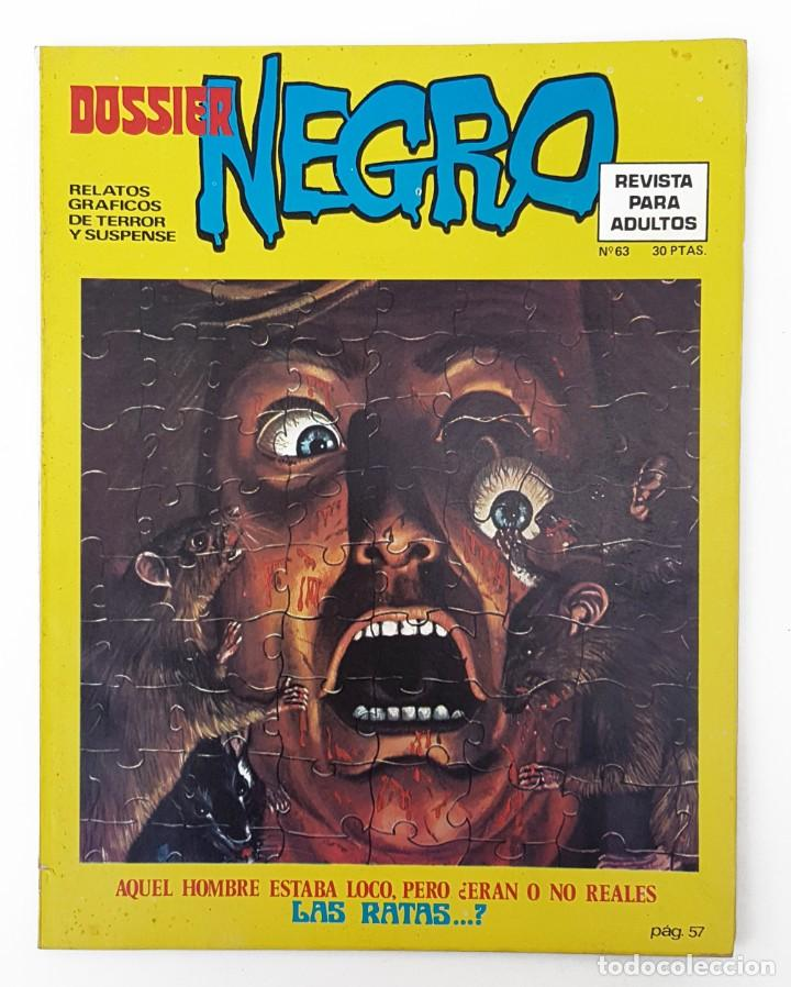 DOSSIER NEGRO Nº 63 RELATOS GRAFICOS TERROR SUSPENSE IBERO MUNDIAL EDICIONES 1974 (Tebeos y Comics - Ibero Mundial)