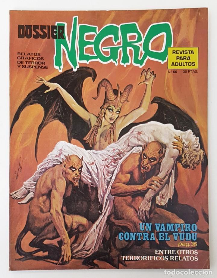 DOSSIER NEGRO Nº 66 RELATOS GRAFICOS TERROR SUSPENSE IBERO MUNDIAL EDICIONES 1974 (Tebeos y Comics - Ibero Mundial)