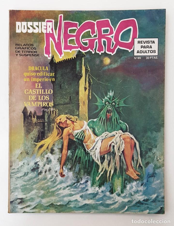 DOSSIER NEGRO Nº 65 RELATOS GRAFICOS TERROR SUSPENSE IBERO MUNDIAL EDICIONES 1974 (Tebeos y Comics - Ibero Mundial)