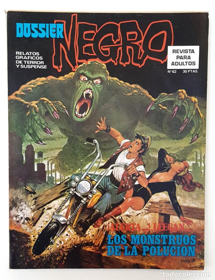 DOSSIER NEGRO Nº 62 RELATOS GRAFICOS TERROR SUSPENSE IBERO MUNDIAL EDICIONES 1974 (Tebeos y Comics - Ibero Mundial)