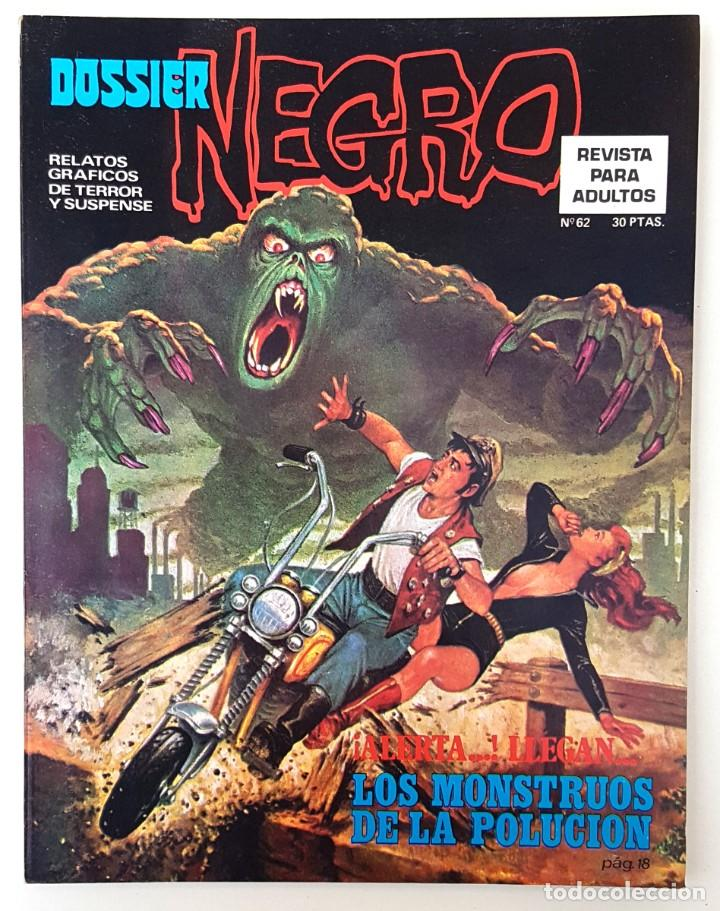 DOSSIER NEGRO Nº 62 RELATOS GRAFICOS TERROR SUSPENSE IBERO MUNDIAL EDICIONES 1974 MUY BUENO (Tebeos y Comics - Ibero Mundial)