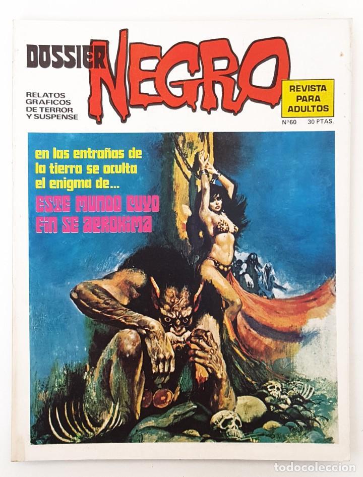 DOSSIER NEGRO Nº 60 RELATOS GRAFICOS TERROR SUSPENSE IBERO MUNDIAL EDICIONES 1974 MUY BUENO (Tebeos y Comics - Ibero Mundial)