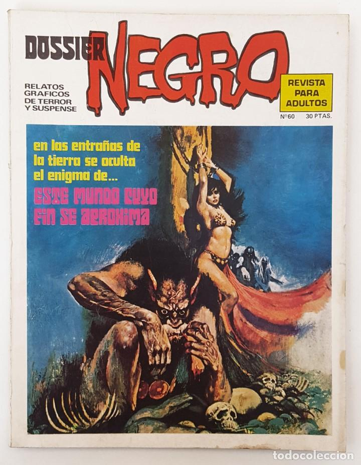 DOSSIER NEGRO Nº 60 RELATOS GRAFICOS TERROR SUSPENSE IBERO MUNDIAL EDICIONES 1974 (Tebeos y Comics - Ibero Mundial)