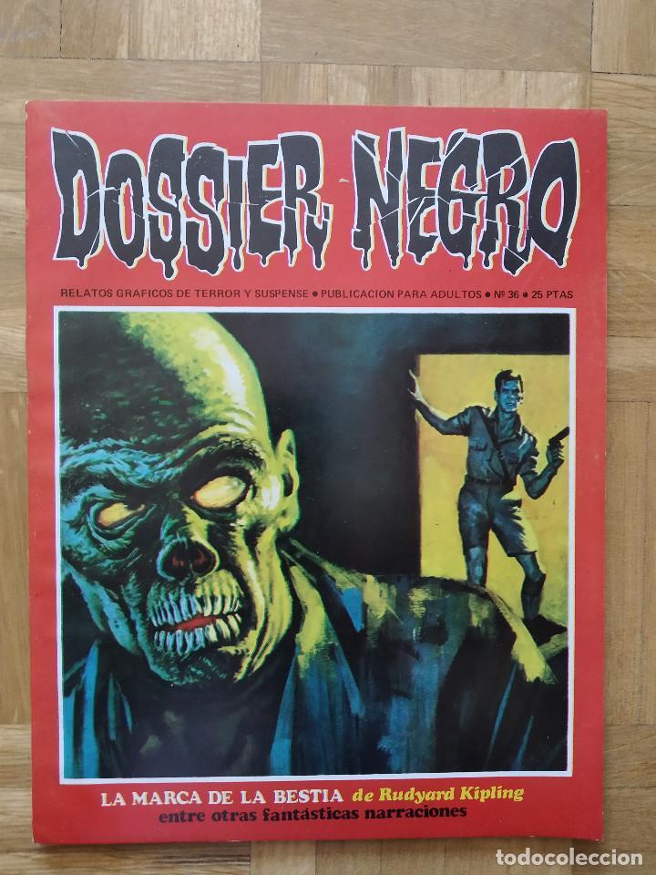 COMIC DOSSIER NEGRO Nº 36 RELATOS GRAFICOS DE TERROR Y SUSPENSE IBERO MUNDIAL DE EDICIONES 1972 (Tebeos y Comics - Ibero Mundial)