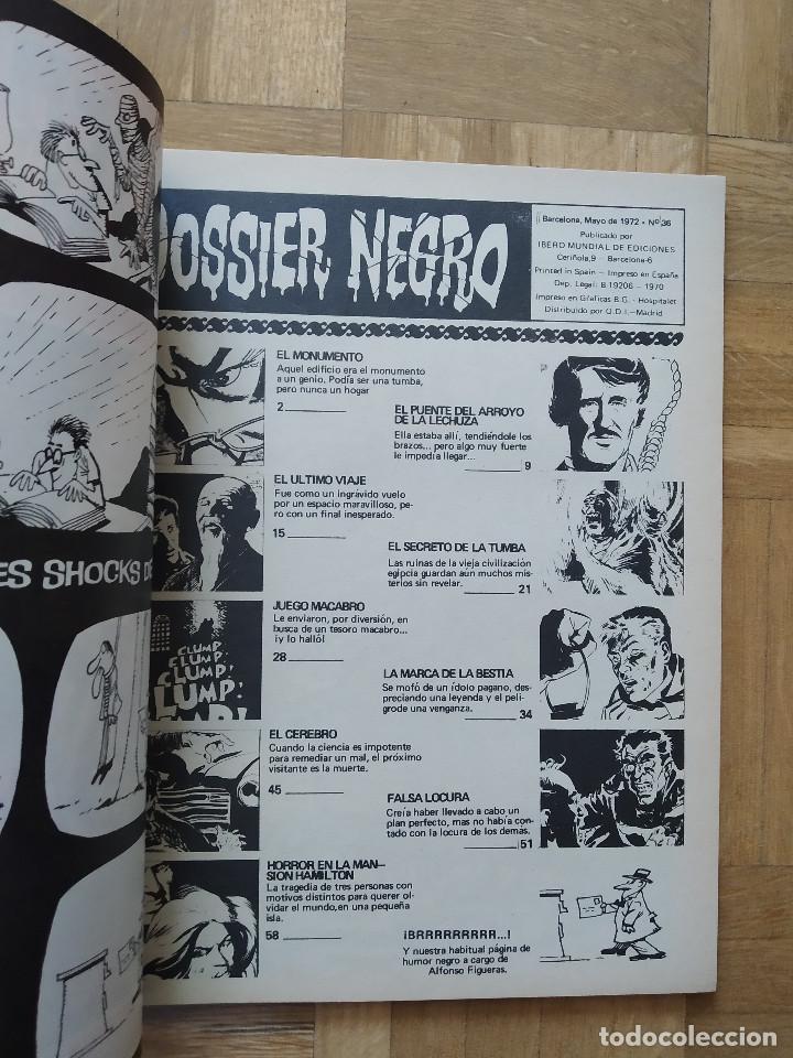 Tebeos: COMIC DOSSIER NEGRO Nº 36 RELATOS GRAFICOS DE TERROR Y SUSPENSE IBERO MUNDIAL DE EDICIONES 1972 - Foto 2 - 263796805