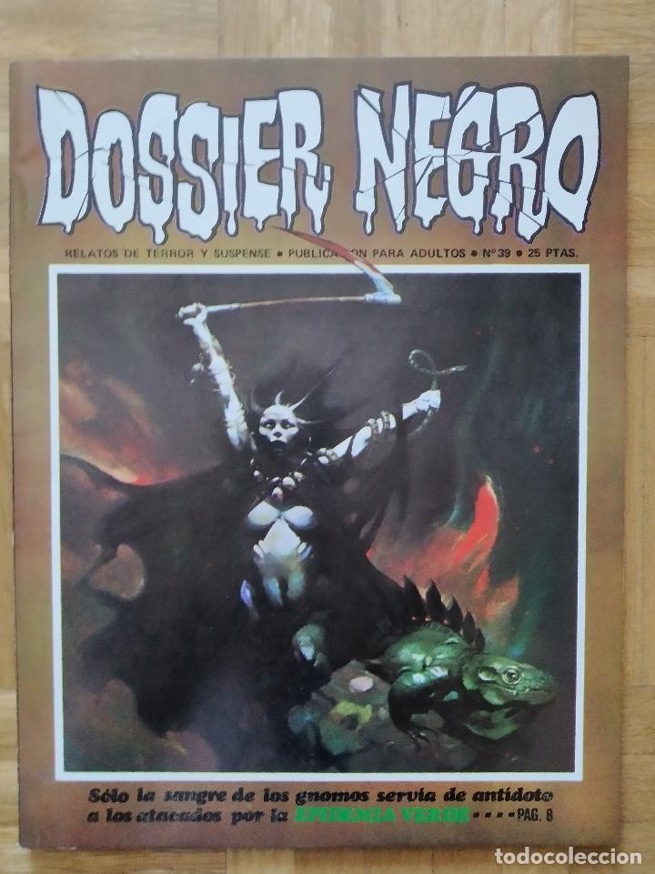 COMIC DOSSIER NEGRO Nº 39 RELATOS GRAFICOS DE TERROR Y SUSPENSE IBERO MUNDIAL DE EDICIONES 1972 (Tebeos y Comics - Ibero Mundial)