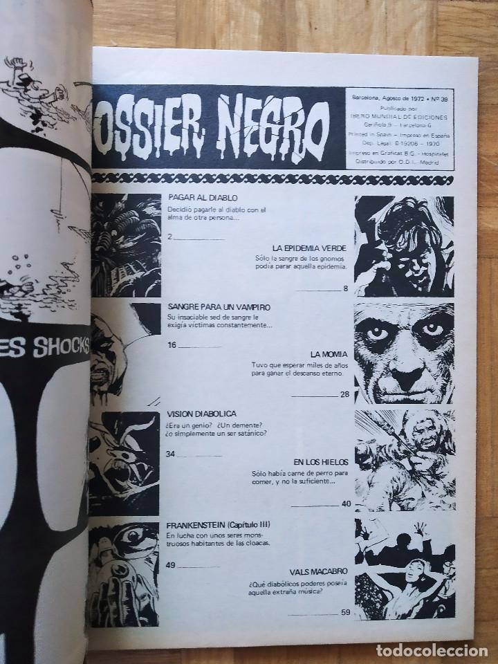 Tebeos: COMIC DOSSIER NEGRO Nº 39 RELATOS GRAFICOS DE TERROR Y SUSPENSE IBERO MUNDIAL DE EDICIONES 1972 - Foto 2 - 263797540