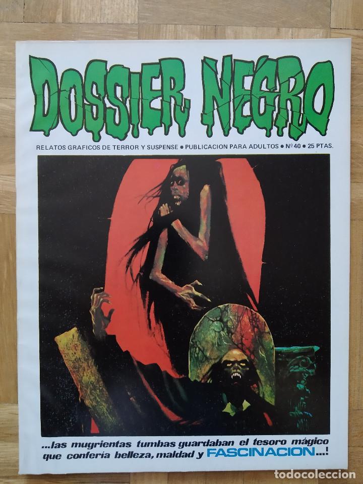 COMIC DOSSIER NEGRO Nº 40 RELATOS GRAFICOS DE TERROR Y SUSPENSE IBERO MUNDIAL DE EDICIONES 1972 (Tebeos y Comics - Ibero Mundial)