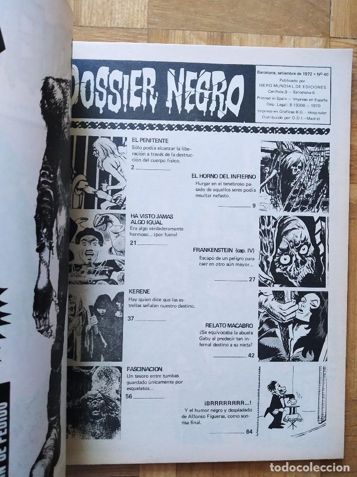 Tebeos: COMIC DOSSIER NEGRO Nº 40 RELATOS GRAFICOS DE TERROR Y SUSPENSE IBERO MUNDIAL DE EDICIONES 1972 - Foto 2 - 263797800