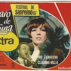 Giornalini: IBERO MUNDIAL. CLARO DE LUNA. 24. EXTRA FESTIVAL DE SAN REMO 67.. Lote 271266233