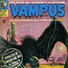 Tebeos: VAMPUS 14 - RELATOS DE TERROR Y SUSPENSE - IBEROMUNDIAL - SELECCION DE CREEPY .SIN POSTER. Lote 276646698