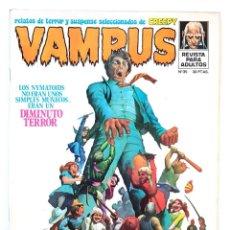 Tebeos: VAMPUS Nº 35 - RELATOS GRAFICOS DE TERROR Y SUSPENSE - GARBO 1974 - POSTER - IMPECABLE. Lote 277563903
