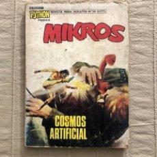 Tebeos: COLECCIÓN PYTHON, MIKROS, NÚMERO 24, AÑO 1970, (IBERO MUNDIAL).. Lote 293516363