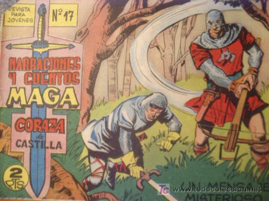 CORAZA DE CASTILLA ( MAGA ) ORIGINALES 1964-1965 LOTE (Tebeos y Comics - Maga - Otros)