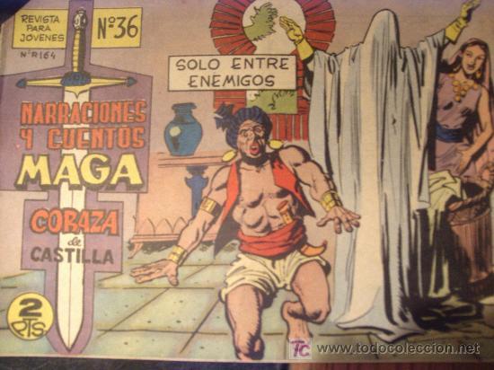 Tebeos: CORAZA de CASTILLA ( MAGA ) ORIGINALES 1964-1965 LOTE - Foto 2 - 26874142