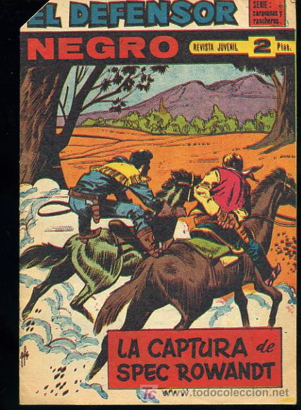 EL DEFENSOR NEGRO,Nº55 - EDITORIAL MAGA 1963 (Tebeos y Comics - Maga - Otros)