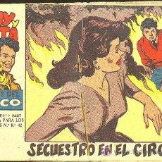 Giornalini: TONY Y ANITA Nº7 LOS ASES DEL CIRCO -SECUESTRO EN EL CIRCO- EDITORIAL MAGA - AÑOS 50 A 60. Lote 3248323