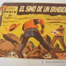 Tebeos: ESPIRITU DEL OESTE. Nº. 22.- SERIE LA CUADRILLA- EL SINO DE UN BANDIDO. EDT. MAGA.- 1963.. Lote 16204776