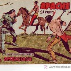 Tebeos: COMIC APACHE 2º PARTE - ORIGINAL DEL AÑO 1958 II-53. Lote 27140227
