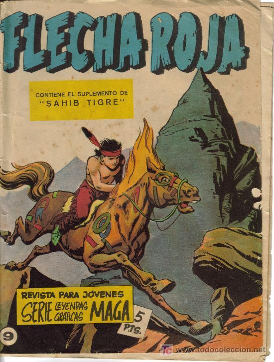 FLECHA ROJA ( MAGA) ORIGINALES 1964 LOTE (Tebeos y Comics - Maga - Flecha Roja)