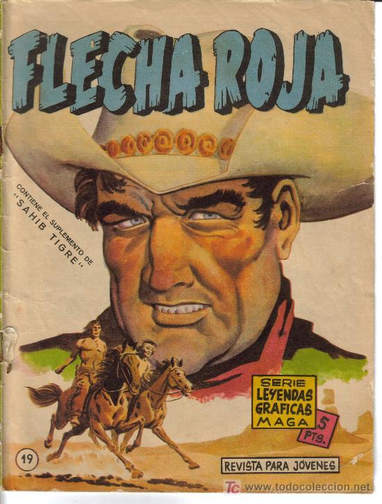 Tebeos: FLECHA ROJA ( MAGA) ORIGINALES 1964 LOTE - Foto 2 - 26342198