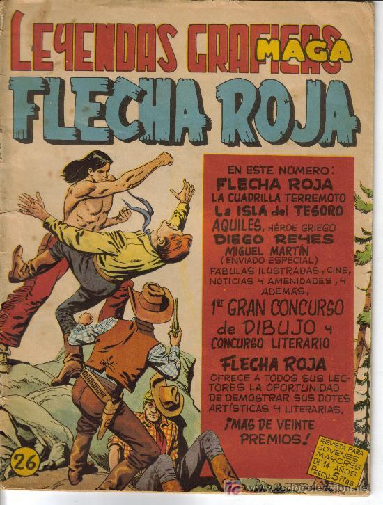 Tebeos: FLECHA ROJA ( MAGA) ORIGINALES 1964 LOTE - Foto 3 - 26342198