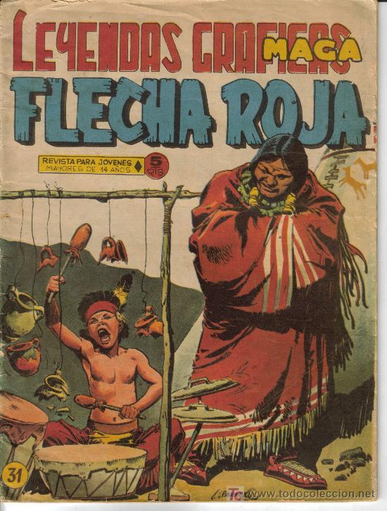 Tebeos: FLECHA ROJA ( MAGA) ORIGINALES 1964 LOTE - Foto 4 - 26342198