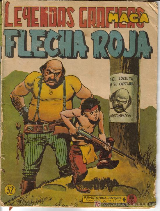 Tebeos: FLECHA ROJA ( MAGA) ORIGINALES 1964 LOTE - Foto 5 - 26342198