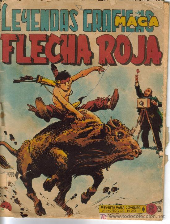 Tebeos: FLECHA ROJA ( MAGA) ORIGINALES 1964 LOTE - Foto 6 - 26342198