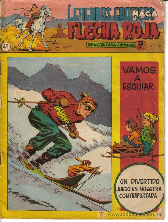 Tebeos: FLECHA ROJA ( MAGA) ORIGINALES 1964 LOTE - Foto 7 - 26342198