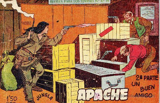APACHE Nº14 (2ªÉPOCA) DIBUJOS CLAUDIO TINOCO. CUADERNILLO ORIGINAL (Tebeos y Comics - Maga - Apache)