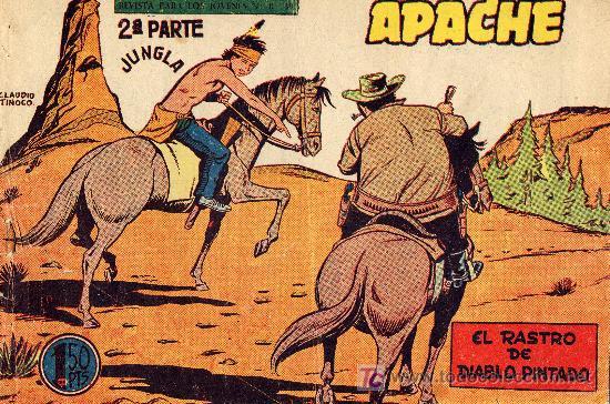 APACHE Nº 61 (2ºPARTE) DIBUJOS DE CLAUDIO TINOCO. CUADERNILLO ORIGINAL (Tebeos y Comics - Maga - Apache)