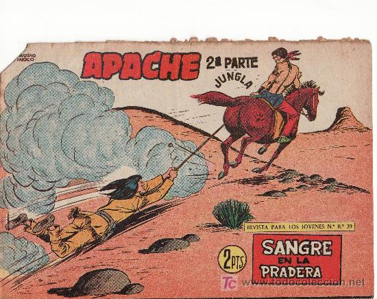 EDITORIAL MAGA. APACHE II-73.COMIC ORIGINAL. AÑO 1958 - PORTADA DE CLAUDIO TINOCO (Tebeos y Comics - Maga - Apache)