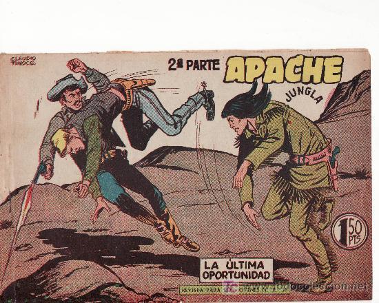 APACHE II-59.COMIC ORIGINAL. AÑO 1958 - PORTADA DE CLAUDIO TINOCO.EDITORIAL MAGA (Tebeos y Comics - Maga - Apache)