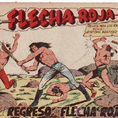 Tebeos: FLECHA ROJA -AÑO 1962. COMIC ORIGINAL Nº 10-EL REGRESO DE FLECHA ROJA. Lote 25789355