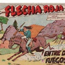 Tebeos: FLECHA ROJA -AÑO 1962. COMIC ORIGINAL Nº 9-ENTRE DOS FUEGOS. Lote 24895020