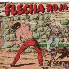 Tebeos: FLECHA ROJA -AÑO 1962. COMIC ORIGINAL Nº 8-LA SENTENCIA. Lote 19831903