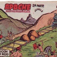 Tebeos: APACHE 2ªPARTE-AÑO 1958. COMIC ORIGINAL Nº II-51 LA TRAICION DE JAGUAR ROJO. Lote 24231972