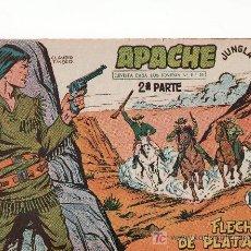 Tebeos: APACHE 2ªPARTE-AÑO 1958. COMIC ORIGINAL Nº II-37 FLECHAS DE PLATA. Lote 26898388