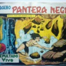 Tebeos: PANTERA NEGRA - SEPULTADO VIVO - AÑO 1958 Nº 324. Lote 23545725
