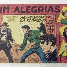 Tebeos: TEBEO JIM ALEGRÍAS Nº18 ABANDONADO EN LA TORMENTA ED MAGA 1960. Lote 9944743