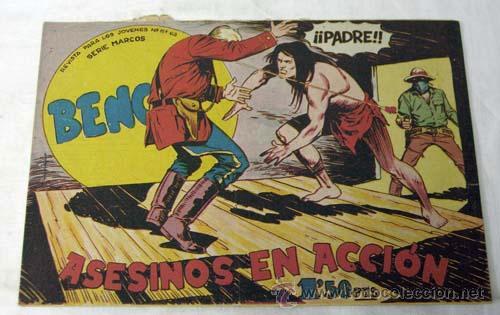 TEBEO BENGALA Nº 28 ASESINOS EN ACCIÓN ED MAGA 1959 (Tebeos y Comics - Maga - Bengala)