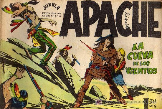 APACHE Nº 53 - LUIS BERMEJO - COL. JUNGLA - EDITORIAL MAGA 1958 - ORIGINAL, NO FACSIMIL (Tebeos y Comics - Maga - Apache)