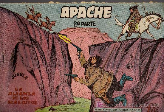 APACHE Nº 23 2ª PARTE - TINOCO - COL. JUNGLA - EDITORIAL MAGA 1959 - ORIGINAL, NO FACSIMIL (Tebeos y Comics - Maga - Apache)