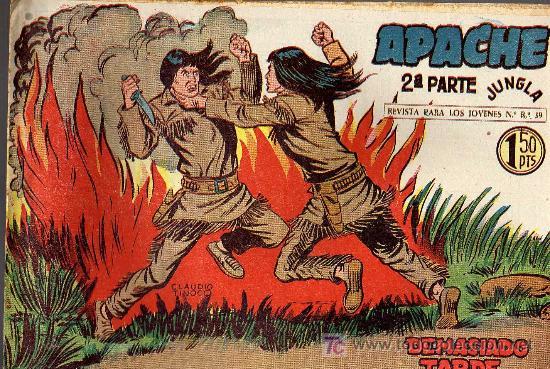 APACHE Nº 28 2ª PARTE - TINOCO - COL. JUNGLA - EDITORIAL MAGA 1959 - ORIGINAL, NO FACSIMIL (Tebeos y Comics - Maga - Apache)
