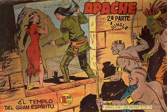 APACHE Nº 38 2ª PARTE - TINOCO - COL. JUNGLA - EDITORIAL MAGA 1959 - ORIGINAL, NO FACSIMIL (Tebeos y Comics - Maga - Apache)