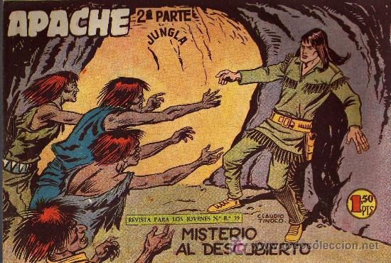 APACHE Nº 39 2ª PARTE - TINOCO - COL. JUNGLA - EDITORIAL MAGA 1959 - ORIGINAL, NO FACSIMIL (Tebeos y Comics - Maga - Apache)