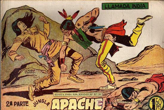 APACHE Nº 49 2ª PARTE - TINOCO - COL. JUNGLA - EDITORIAL MAGA 1959 - ORIGINAL, NO FACSIMIL (Tebeos y Comics - Maga - Apache)