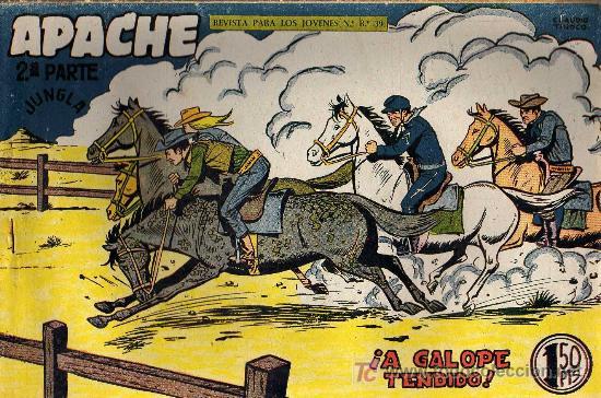 APACHE Nº 63 2ª PARTE - TINOCO - COL. JUNGLA - EDITORIAL MAGA 1959 - ORIGINAL, NO FACSIMIL (Tebeos y Comics - Maga - Apache)