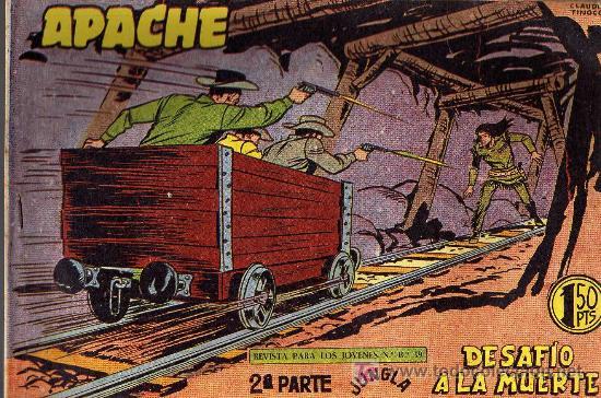 APACHE Nº 65 2ª PARTE - TINOCO - COL. JUNGLA - EDITORIAL MAGA 1959 - ORIGINAL, NO FACSIMIL (Tebeos y Comics - Maga - Apache)